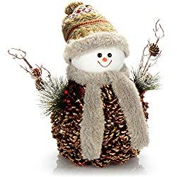 Lustige Schneemann Figur
