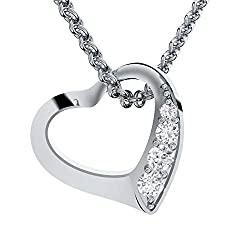 Silber Herzkette